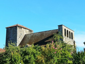 l'église Sainte-Marie, Fleurac, Dordogne, France