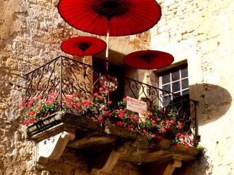balcon_sarlat_de_gerard-Hotel Gérard de Barry Sarlat dordogne périgord