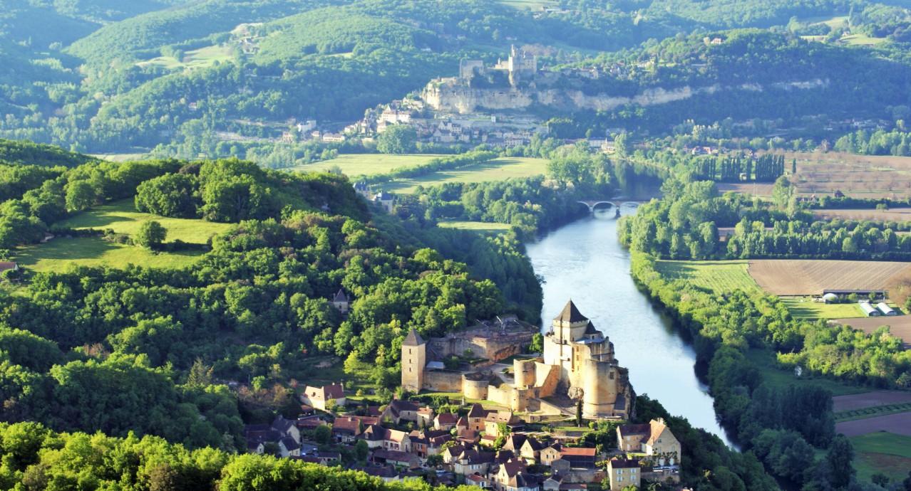 vue de la vallée de la Dordogne
