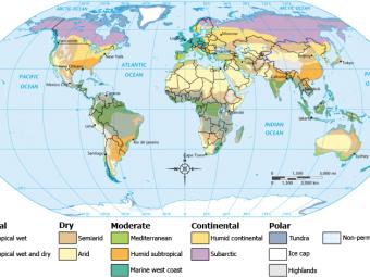 carte mondiale du climat